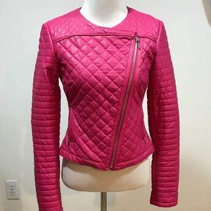 Size XS. Hot pink INC pleather jacket. Like new!